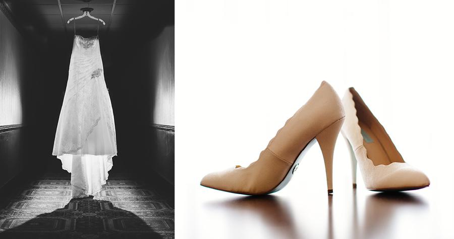 creative wedding dress and shoe photos nj