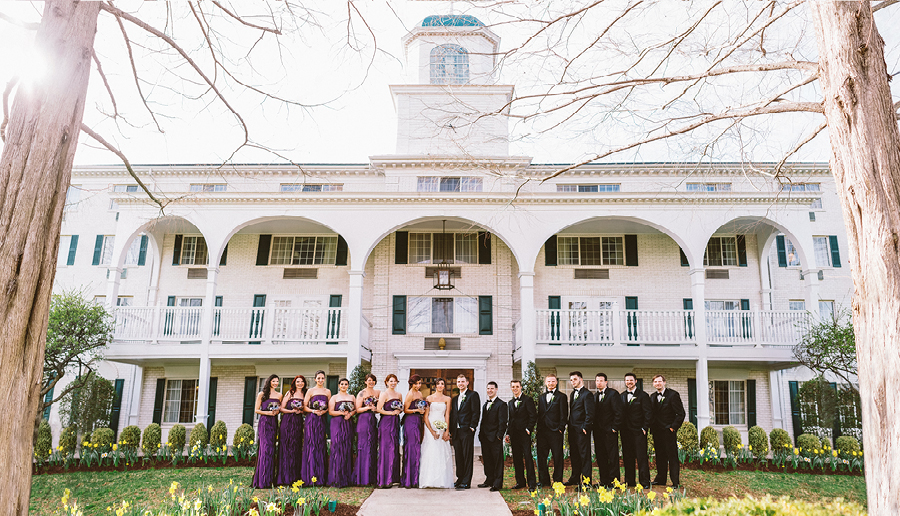 bridal party at madison hotel morristown, nj
