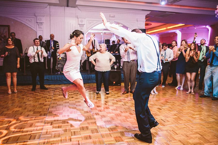 jumping bride