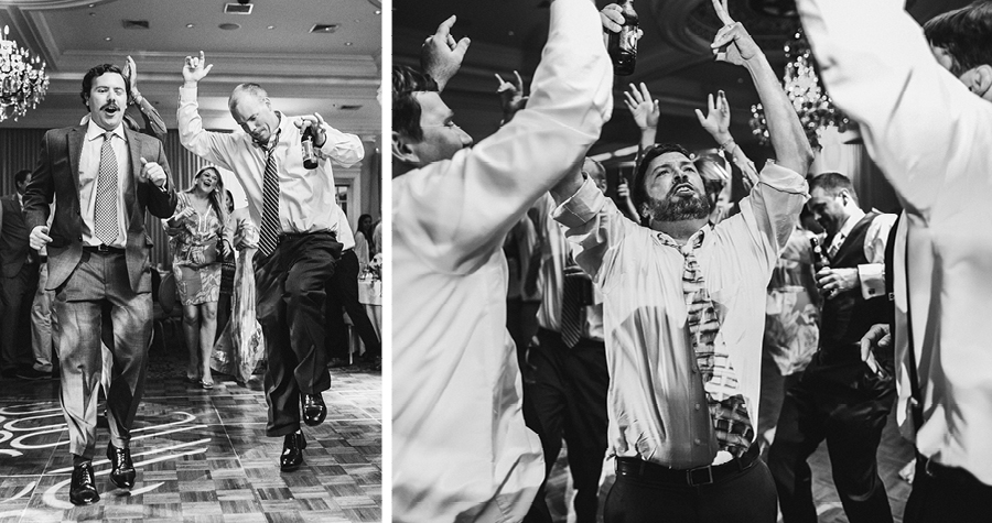 black and white wedding reception photos