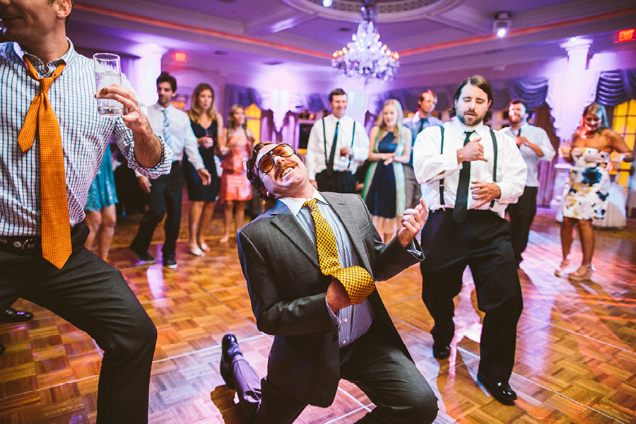 crazy wedding reception photo
