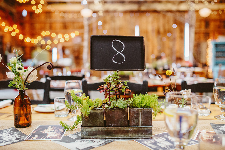 rustic wedding details