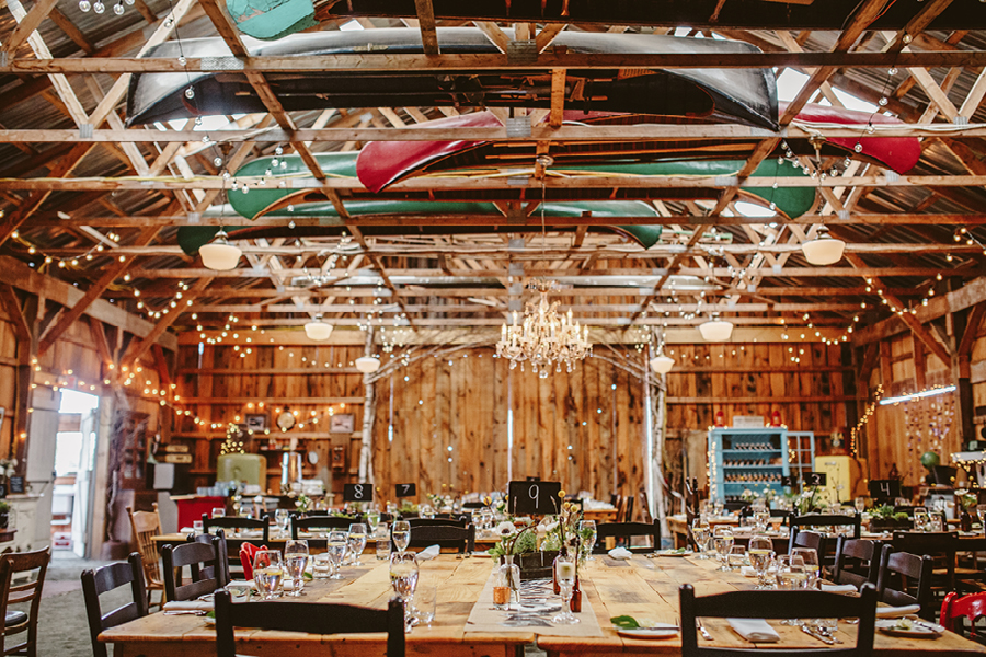 rustic wedding venue fiddle lake farm