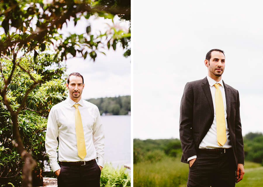 Groom Portraits at Fiddle Lake Farm