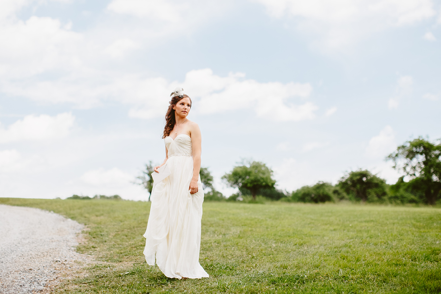 Bride Portrait at Fiddle Lake Farm