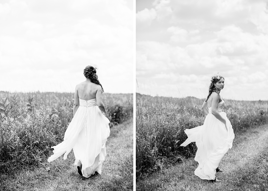 bride at fiddle lake farm