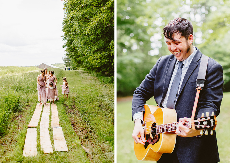 Fiddle Lake Farm Wedding Ceremony