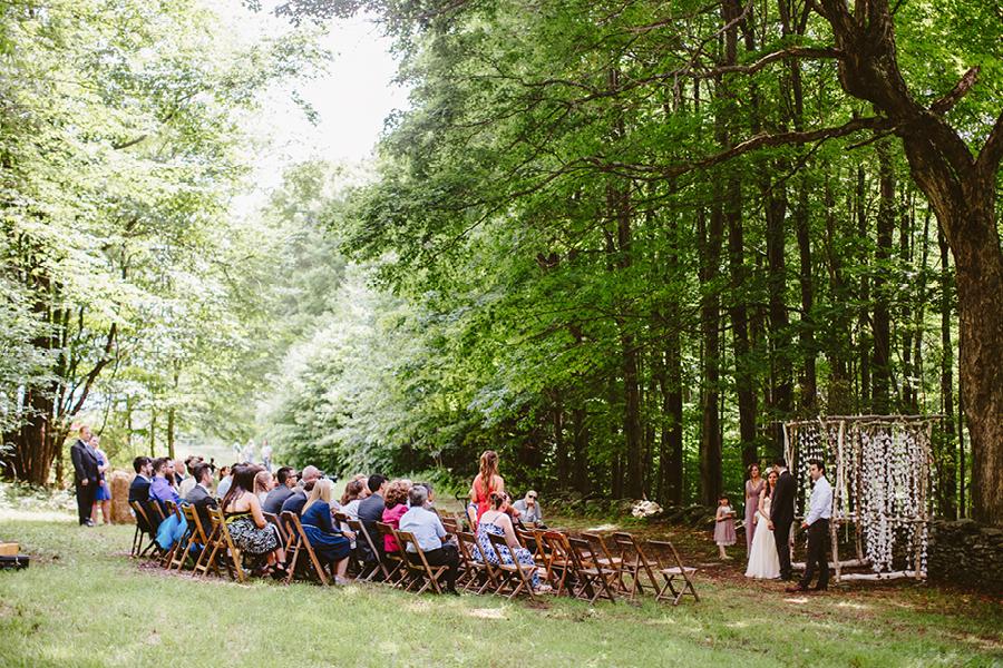 ceremony location at fiddle lake farm