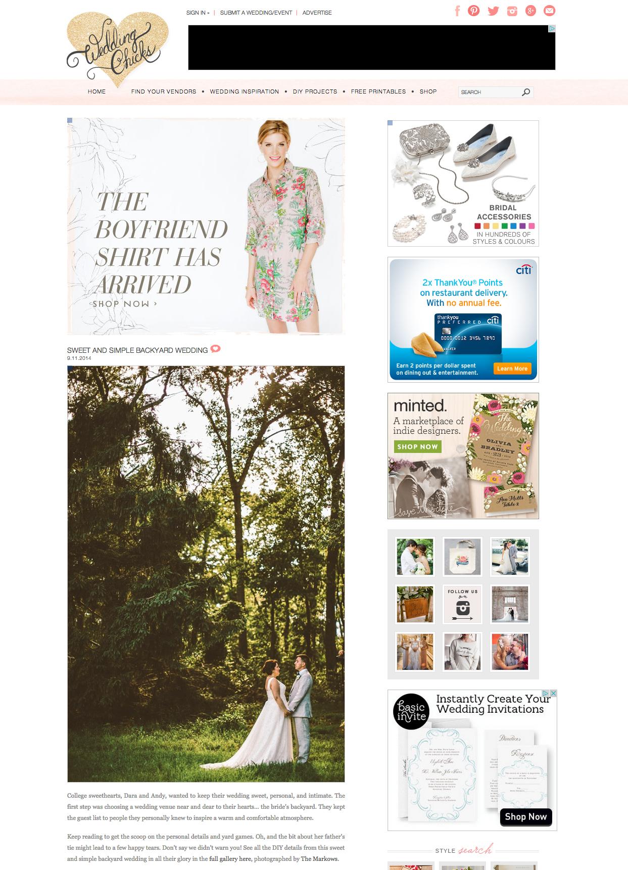 Wedding Chicks Feature | SWEET AND SIMPLE BACKYARD WEDDING