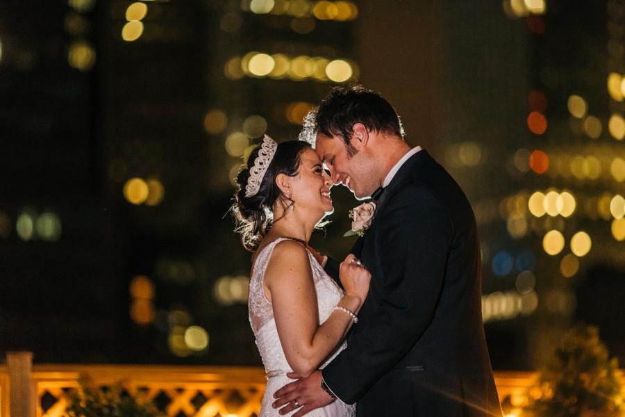 Manhattan Rooftop Wedding Photo