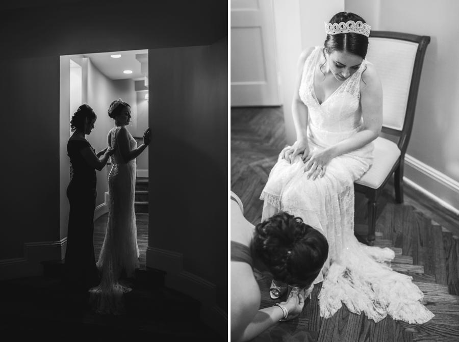 Bride Getting Ready Union League Club