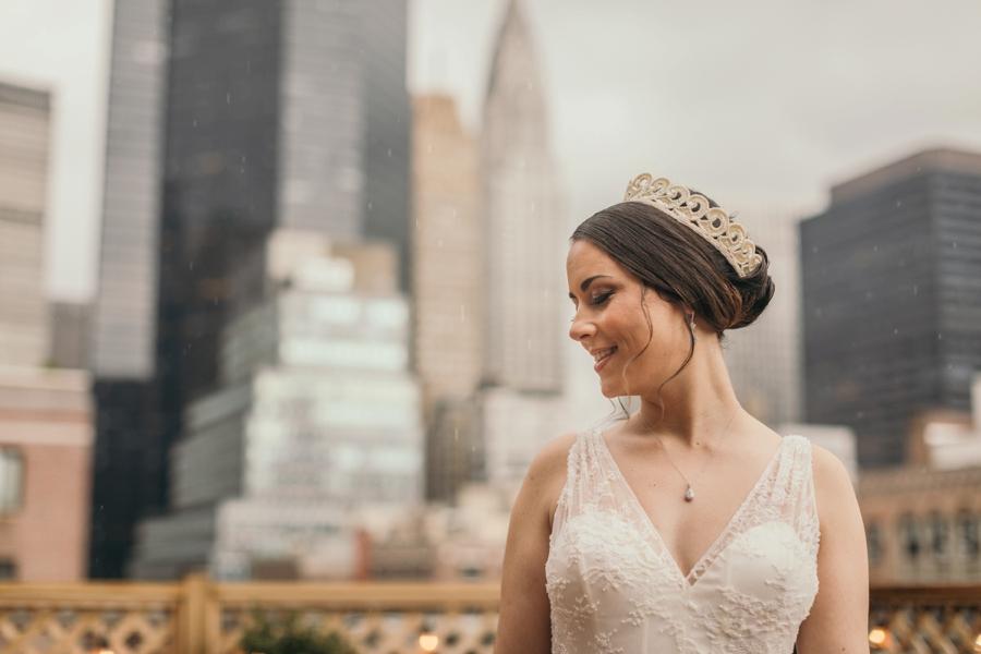 Rainy Manhattan Bridal Portrait
