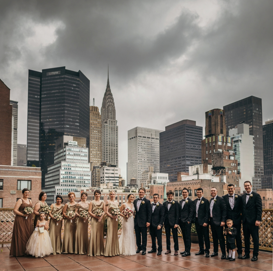 Manhattan rooftop bridal Party